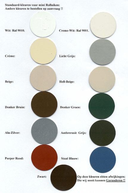 rolluik kleuren